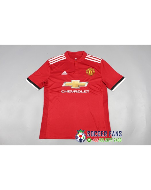 17-18 Manchester United Home Red Fans Version 1:1 Quality ( 17-18曼联主场红色球迷1:1)