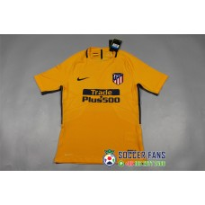 17-18 Atletico Madrid Away yellow Player Version 1:1 quality (17-18 马竞客场黄色球员1:1)