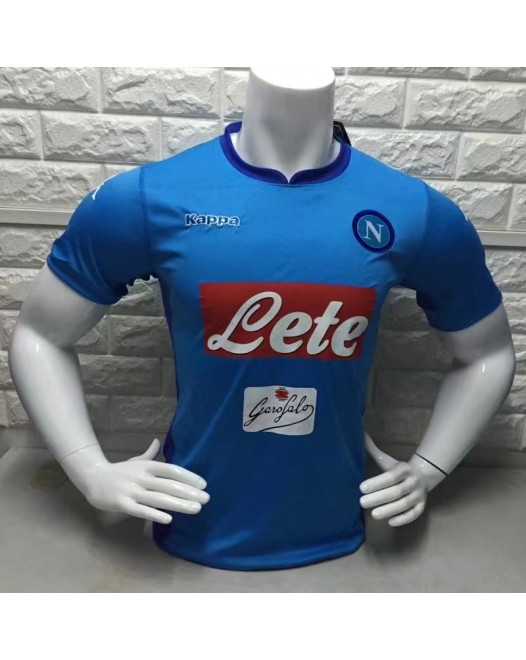 17-18 Napoli Home Fans Verison Thai Quality (17-18那不勒斯主场球迷泰版)