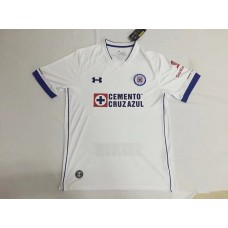 17-18 Cruz Azul Away White Fans Verison Thai Quality (17-18蓝十字客场白色球迷泰版)