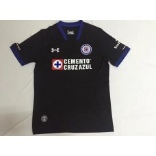 17-18 Cruz Azul Third Black Fans Verison Thai Quality (17-18蓝十字二客场黑色球迷泰版)