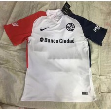 17-18 San Lorenzo Away White Fans Verison Thai Quality (17-18圣洛伦索客场白色球迷泰版)