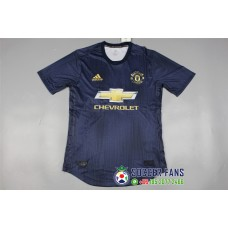 18-19 Manchester United Third Blue Player Version 1:1 Quality (18-19曼联二客蓝色球员1:1)
