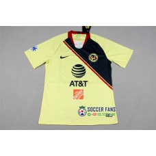 18-19 América Home Yellow Fans Verison 1:1 Quality (18-19美洲主场黄色球迷1:1)