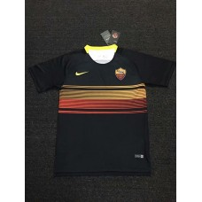 18-19 Roma Black Short-Sleeved Training T-shirt (18-19罗马黑色短袖训练T恤)
