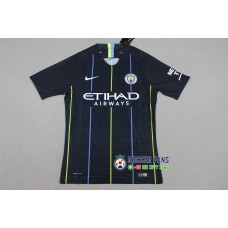 18-19 Manchester City Away Player Version 1:1 Quality (18-19曼城客场深蓝色球员1:1)