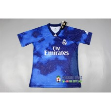 18-19 Real Madrid Blue Commemorative Edition 1:1 (18-19皇马星空蓝色纪念款1:1)
