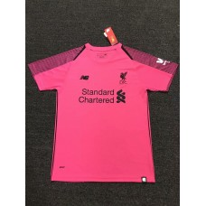 18-19 Liverpool Pink Short Sleeve Goal Keeper Jersey (18-19利物浦粉红色守门服短袖)