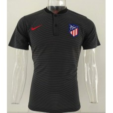 18-19 Atlético Madrid Black Mans Polo (18-19马竞黑色Polo)