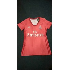 18-19 Real Madrid Third Red Women's Jersey (18-19皇马二客红色女装)