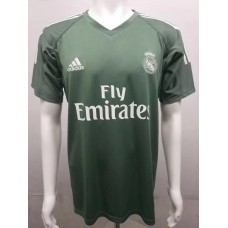 17-18 Real Madrid Green Short Sleeve Goalkeeper Jersey, Thai Quality  (17-18皇马守门服绿色短袖)