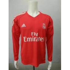 17-18 Real Madrid Red Long Sleeve Goalkeeper Jersey, Thai Quality  (17-18皇马守门服红色长袖)