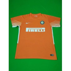 17-18 Inter Milan Orange Short Sleeve Goal Keeper Jersey (17-18国米守门服橙色短袖)