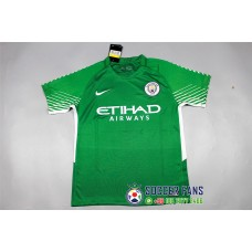 17-18 Manchester City Green Short Sleeve Goalkeeper Jersey (17-18曼城守门服绿色短袖)