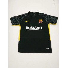 17-18 Barcelona Black Short Sleeve Goalkeeper Jersey (17-18巴塞黑色守门服短袖)