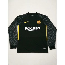 17-18 Barcelona Black Short Sleeve Goal Keeper Jersey (17-18巴塞黑色守门服长袖)