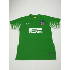 17-18 Atletico Madrid Green Short Sleeve Goal Keeper Jersey (17-18马竞守门服绿色短袖)