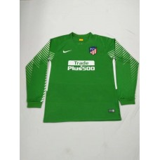 17-18 Atletico Madrid Green Long Sleeve Goal Keeper Jersey (17-18马竞守门服绿色长袖)
