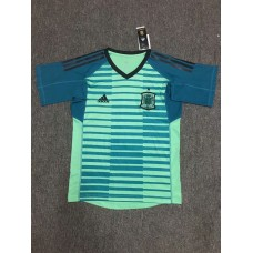 2018 World Cup Spain Green Short Sleeve Goal Keeper Jersey (2018世界杯西班牙守门服绿色短袖)