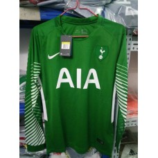 17-18 HOT Green Long Sleeve Goal Keeper Jersey (17-18热刺守门员绿色长袖)