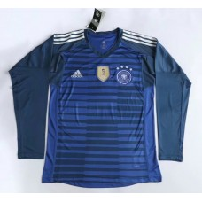 2018 World Cup Germany Long Sleeve Goal Keeper Jersey (2018世界杯德国蓝色守门员长袖)