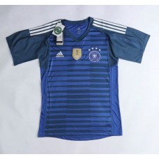 2018 World Cup Germany Short Sleeve Goal Keeper Jersey (2018世界杯德国蓝色守门员短袖)