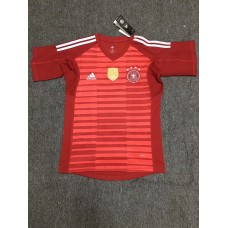 2018 World Cup Germany Red Short Sleeve Goal Keeper Jersey  (2018世界杯德国红色守门员短袖)