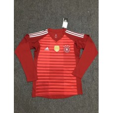 2018 World Cup Germany Red Long Sleeve Goal Keeper Jersey (2018世界杯德国红色守门员长袖)