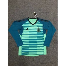 2018 World Cup Spain Green Long Sleeve Goal Keeper Jersey (2018世界杯西班牙守门服绿色长袖)