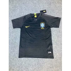 2018 World Cup Brazil Black Short Sleeve Goal Keeper Jersey (2018世界杯巴西守门服黑色短袖)