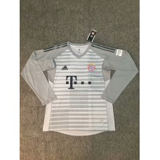 18-19 Bayern Grey Long Sleeve Goal Keeper Jersey (18-19拜仁灰色守门服长袖)