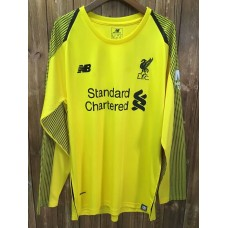 18-19 Liverpool Yellow Long Sleeve Goal Keeper Jersey (18-19利物浦黄色守门服长袖)