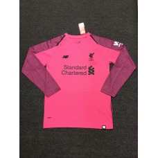 18-19 Liverpool Pink Long Sleeve Goal Keeper Jersey (18-19利物浦粉红色守门服长袖)