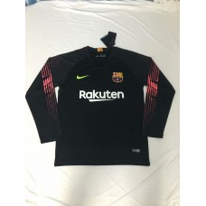 18-19 Barcelona Black Long Sleeve Goal Keeper Jersey (18-19巴塞黑色守门服长袖)