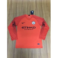 18-19 Manchester City Red Long Sleeve Goal Keeper Jersey (18-19曼城红色守门服长袖)