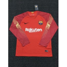 18-19 Barcelona Red Long Sleeve Goal Keeper Jersey (18-19巴塞红色守门服长袖)