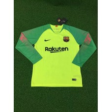 18-19 Barcelona Green Long Sleeve Goal Keeper Jersey (18-19巴萨绿色守门服长袖)