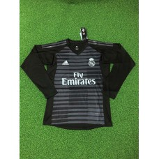 18-19 Real Madrid Black Long Sleeve Goal Keeper Jersey (18-19皇马黑色守门服长袖)