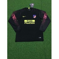 18-19 Athletic Madrid Black Long Sleeve Goal Keeper Jersey (18-19马竞黑色守门服长袖)