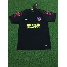 18-19 Athletic Madrid Black Short Sleeve Goal Keeper Jersey (18-19马竞黑色守门服短袖)