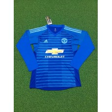 18-19 Manchester United Blue Long Sleeve Goal Keeper Jersey (18-19曼联蓝色守门服长袖)