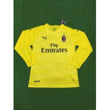 18-19 AC Milan Yellow Long Sleeve Goal Keeper Jersey (18-19AC米兰黄色守门服长袖)