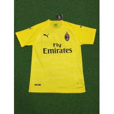 18-19 AC Milan Yellow Short Sleeve Goal Keeper Jersey (18-19AC米兰黄色守门服短袖)