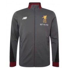 17-18 Liverpool high neck Gray Jacket (17-18 利物浦高领灰色夹克)