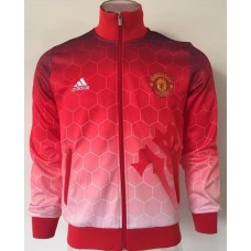 17-18 Manchester United high neck Red Jacket (17-18 曼联高领红色夹克)