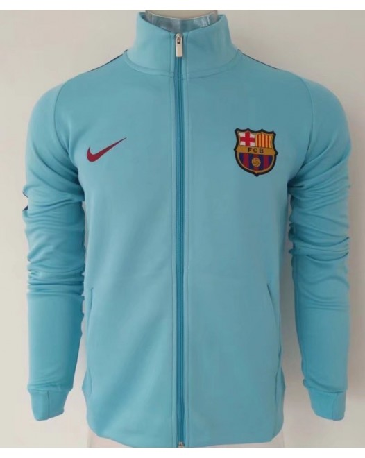 17-18 Barcelona high neck Blue Jacket (17-18 巴塞高领蓝色夹克)