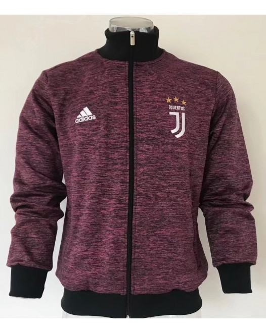 17-18 Juventus high neck Red Jacket  (17-18 尤文高领红色夹克)