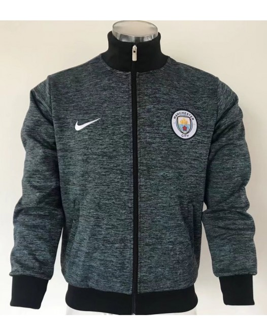 17-18 Manchester City high neck Jacket (17-18 曼城高领蓝色夹克)