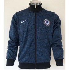 17-18 Chelsea high neck Blue Jacket (17-18 切尔西高领蓝色夹克)