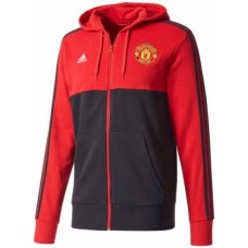17-18 Manchester United Red and Black zipper hoodie (17-18 曼联红黑色拉链带帽卫衣)